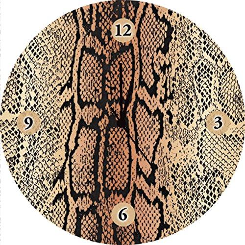 Artland Qualitätsuhren I Funk Wanduhr Designer Uhr Glas Funkuhr Größe: 35 Ø Wildtiere Reptilien Natur D1KF