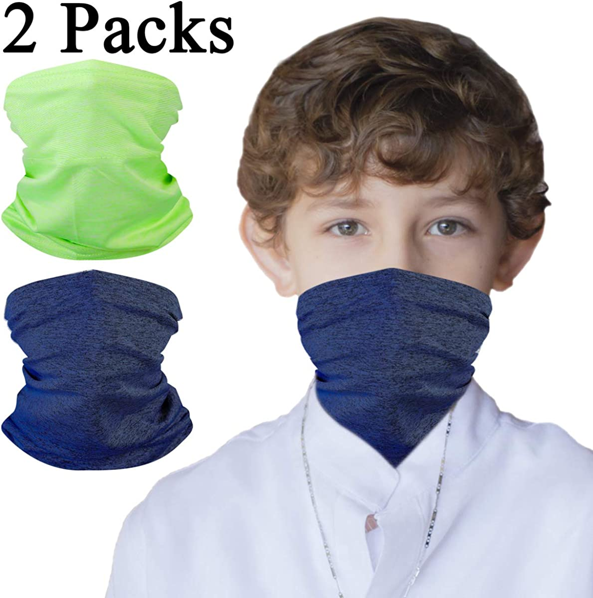 Neck Gaiter Bandana Girl Boy Safety Head Cover for Saliva and Anti-Dust Protection Toddler Headgear Infinity Scarf Kids Headwear Magical Multi Function,Half Face Protective Balaclava