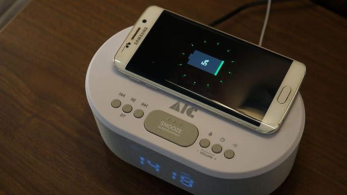 Aic Radio Alarm Clock Designer Watch Radio Usb Elektronik