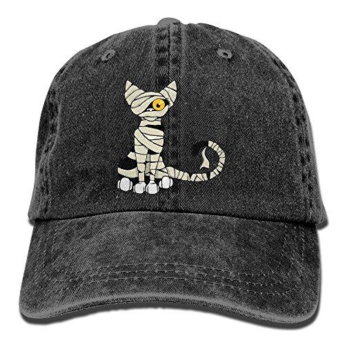 Denim Headgear Cap (Males Women's Cricket Cap,Mummy Cat Yarn-Dyed Denim Hat For Men Woman Unisex)