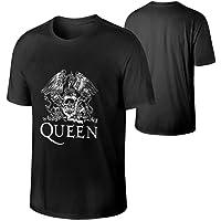 NUDGIZMMOX Queen Rock Band Freddie Mercury Men's Cotton T Shirt