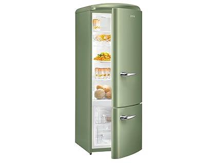 Gorenje Kühlschrank Retro Grün : Gorenje rk ool kühl gefrierkombination olive grün retro