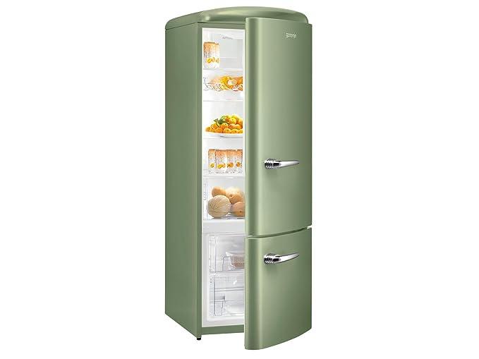 Retro Kühlschrank Bomann : Gorenje rk 60319 ool kühl gefrierkombination olive grün retro