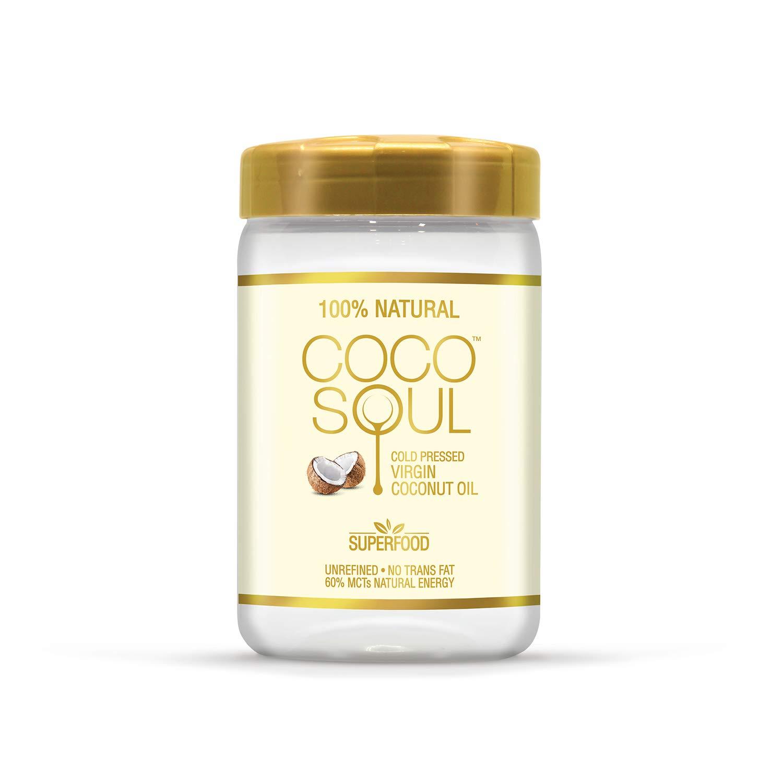 Coco Soul Cold Pressed Natural Virgin Coconut Oil, 500 ml (Jar)