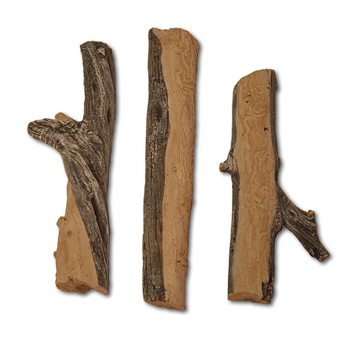 Midwest Hearth Gas Logs Deluxe Decorative Branch and Twig Set | Cast from Real Logs and Hand Painted in USA (Juniper 3-Piece) by Midwest Hearth