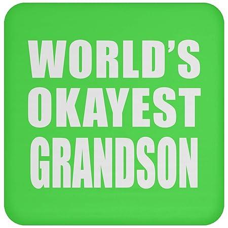 Worlds Okayest Grandson - Drink Coaster Kelly Posavasos para ...