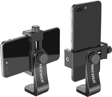 12 Neewer Smartphone Halter Vertikale Halterung Mit 1 4 Zoll Stativhalterung Handy Klemme Für Iphone Iphone11