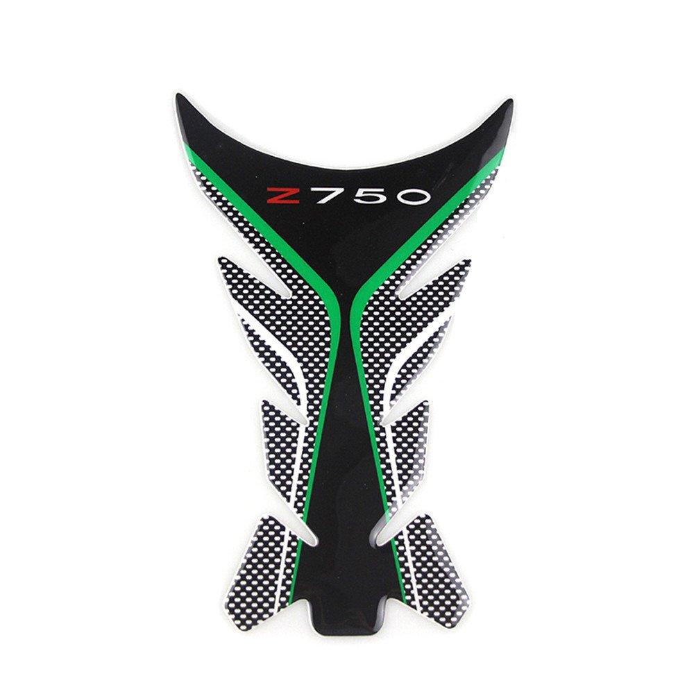 KODASKIN-EU Moto Protection Gaz Ré servoir de Carburant Pad Pad Autocollants Stickers Protecteur pour Kawasaki Z750 (tampon de protection + tampon de ré servoir)