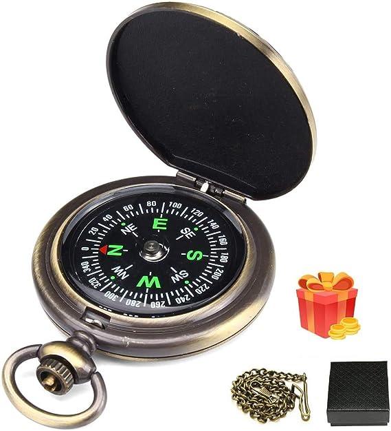 Tragbare Mini-Kompass Brunton Camping Wandern Jagd Outdoor-Sport Keyring  YRXUI