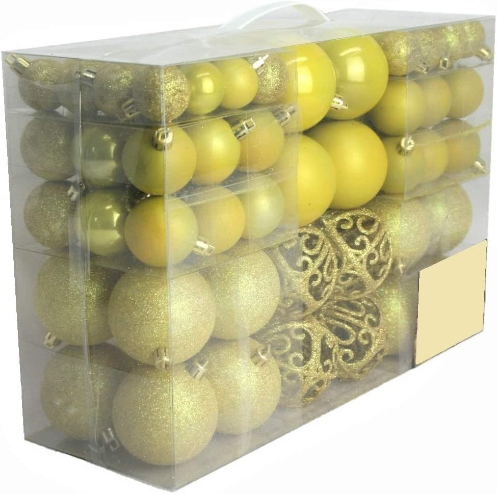 noir-lot de 100 Design exclusif avec boules de no/ël de couleur