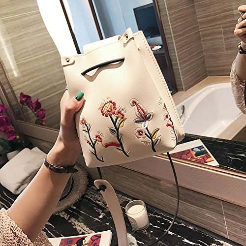 Bolsa 001 Blanc Sac De Piel Esailq Femme blanc Bandoulière Hombro dzfwwSq