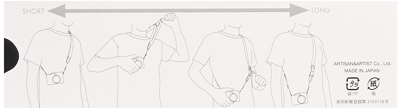 slim, tela con detalles en piel, ajustable Artisan /& Artist ACAM E25R Correa cruzada para c/ámaras sin espejo//CSC color negro