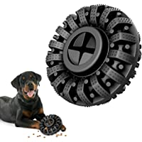 Lewondr Dog Toys for Aggressive Chewers, Natural Rubber Indestructible Dog Toys Treat Dispenser for Power Chewers…
