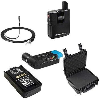 Sennheiser AVX camera-mountable Lavalier Pro Digital inalámbrico Set (mke2 Lavalier) Bundle con SKB funda resistente al agua y BA20 recarga batería: ...