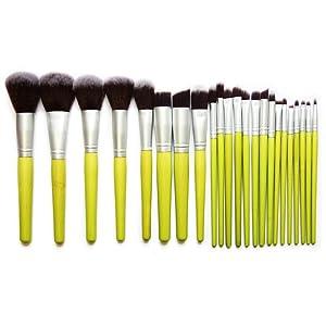 CINEEN 23 Pcs Pro Bamboo Handle Kabuki Makeup Brush Set Cosmetics Foundation Blending Blush Eyeliner Face Powder Brush Makeup Brush Kit