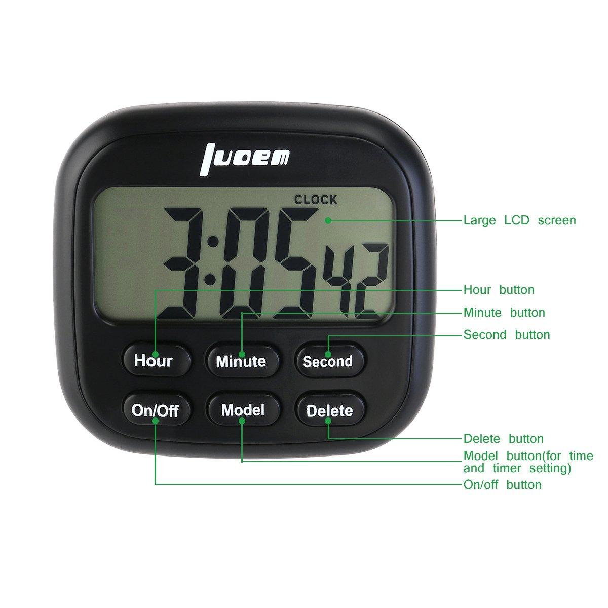 LOREM Temporizador de Cocina Magnético Digital 24 horas Cocina Reloj con gran Pantalla LCD Alarma Temporizador de Timbre alto: Amazon.es: Bricolaje y ...
