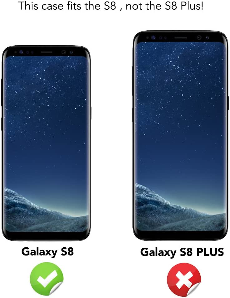 NALIA Flip Case Compatible avec Samsung Galaxy S8 Coque en Cuir Vegan Synth/étique Ultra-Fine Case Housse Protection Couleur:Noir Incassable Avant /& Arri/ère Cover Etui R/ésistant Slim Bumper Mince