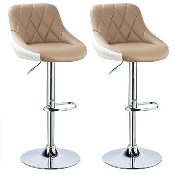 404cde2d3f9e4b WOLTU BH30kk-2 Design 2 Couleurs Tabouret de Bar Lot de 2 avec siège Bien