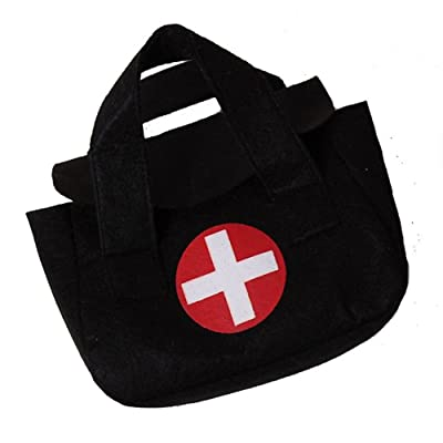 "Storybook Wishes Black Pretend Play Small 7""x5"" Toy Doctor Medical Bag: Clothing"