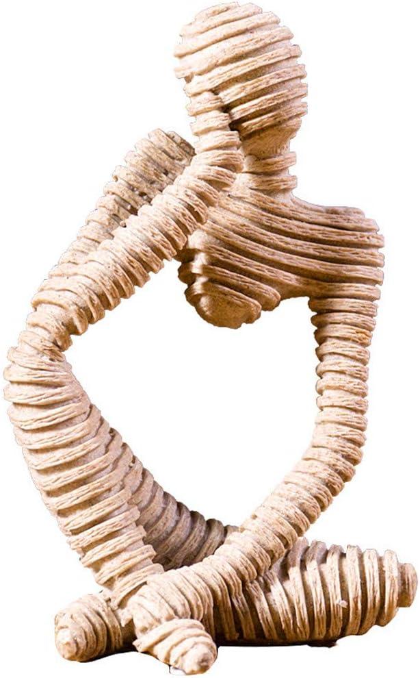 NEWQZ Thinker Figurine Resin Sculpture Statue Collectible Craft Art Handcrafted for Desktop Decor
