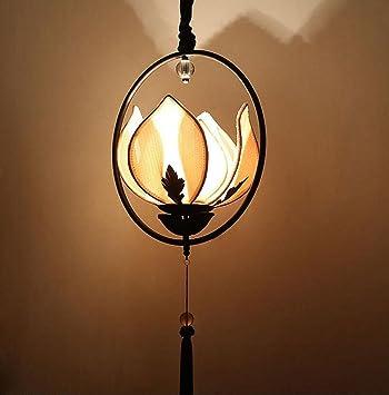 chinois lotus lustre vintage chinois style zen salle manger tissu lanterne alle classique lotus lampe