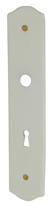 Plaque propreté trou serrure 950130 195 mm porcelaine de LIMOGES blanche DOORTOOLS