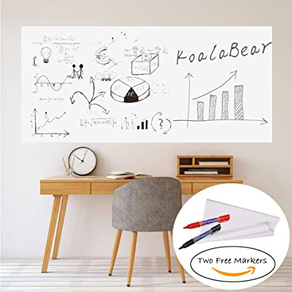 whiteboard for office wall. KoalaBear Brand Dry Erase Sticker Office Wall Decal Peel And Stick Sheets  Whiteboard Message Board Whiteboard For Office Wall L