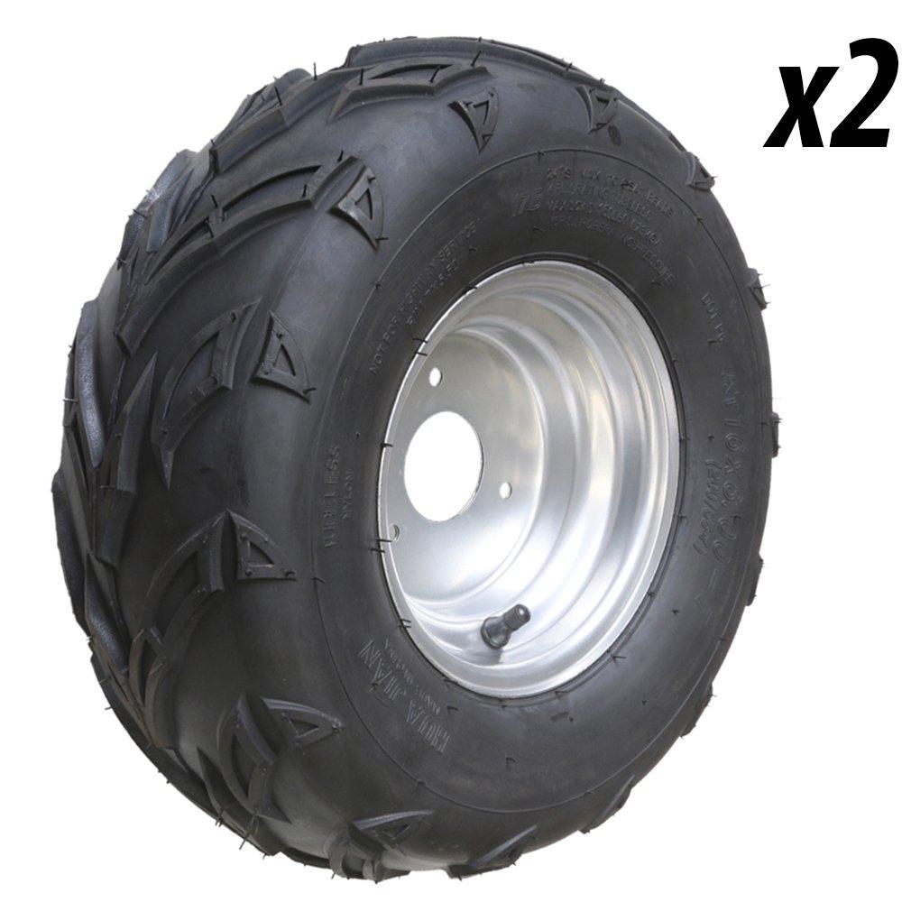 JCMOTO 2pcs ATV Tires 16X8-7 Tubeless Go Kart UTV Quad Bike