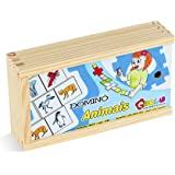 Carlu Brinquedos - Animais Dominó 28 Peças, 3+ Anos, Multicor, 1185