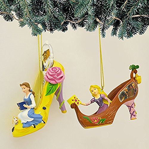 The Bradford Exchange Disney Once Upon a Slipper Ornament Set #14 Bell and (Bradford Collectible Ornaments)