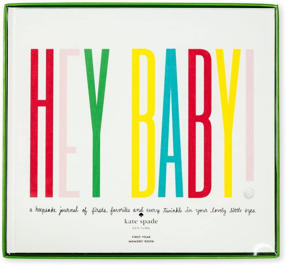 Kate Spade New York Hey Baby First Year Keepsake Book