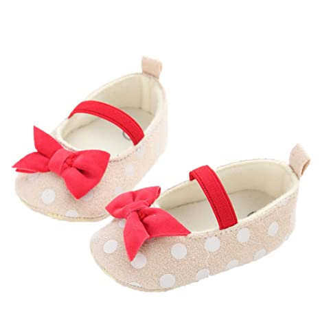 80a4aa88041d9 GorgeousM Baby Girl s Soft Sole Princess First Anti-Slip Walkers Shoes Crib  Moccasin Shoes 6-12 Months M US Infant Yellow  Amazon.in  Baby