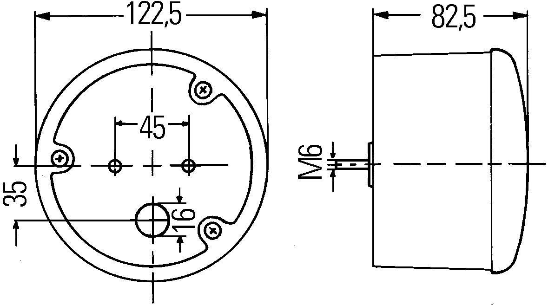 rechts links HELLA 2ZR 964 169-511 R/ückfahrleuchte 12V