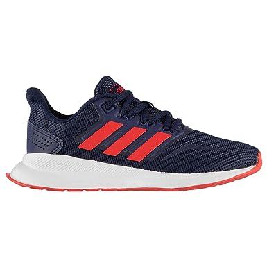 4e55871b8d27e Amazon.com: adidas Run Falcon K Shoes - Boys - Dark Blue/Active Red ...