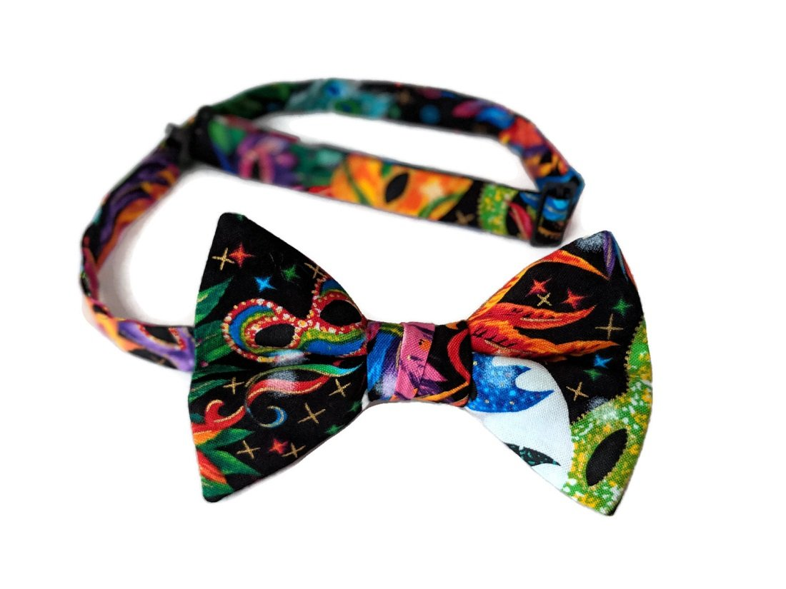 Mardi Gras Pre-tied Bow Tie Multi Colored Celebration (Boys)