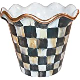 """MacKenzie-Childs 4"""" Courtly Check Flower Pot"""