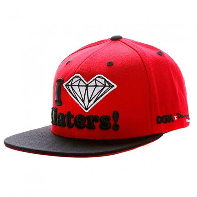 GORRA DGK SNAPBACK DIAMOND HATERS RED BLACK: Amazon.es: Ropa y ...