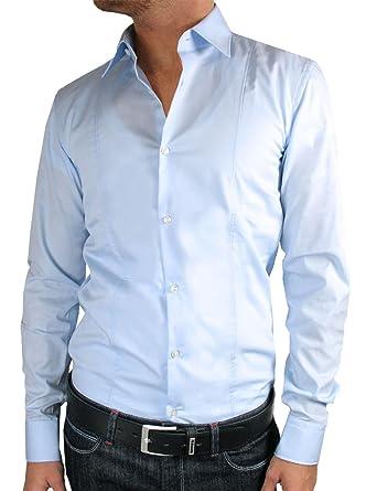 7cf1577eb33 Hugo Boss - Camisa Casual - Ajustado - para Hombre Azul Extra-Large   Amazon.es  Ropa y accesorios