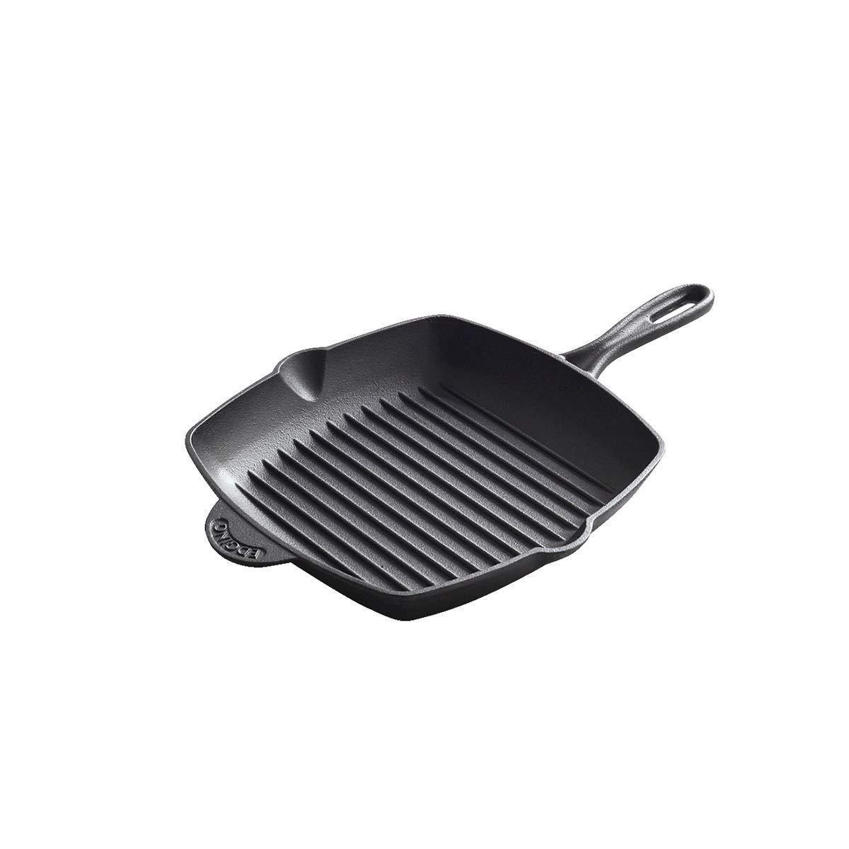 10インチのフライパン、焦げ付き防止のフライパン、ステーキパンのフライパン、フタなし、少ないヒューム、焦げ付き防止の適合フライパン、食器洗い機安全オーブン金庫 (Color : Black, Size : 26cm) 26cm Black B07RPYLP3F