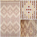 BeadedString Natural Wood and Bamboo Beaded Curtain-45 Strands-77 High-Bamboo and Wooden Doorway Beads-Boho Bohemian Curtain-35.5″ W x 77″ H-Pride