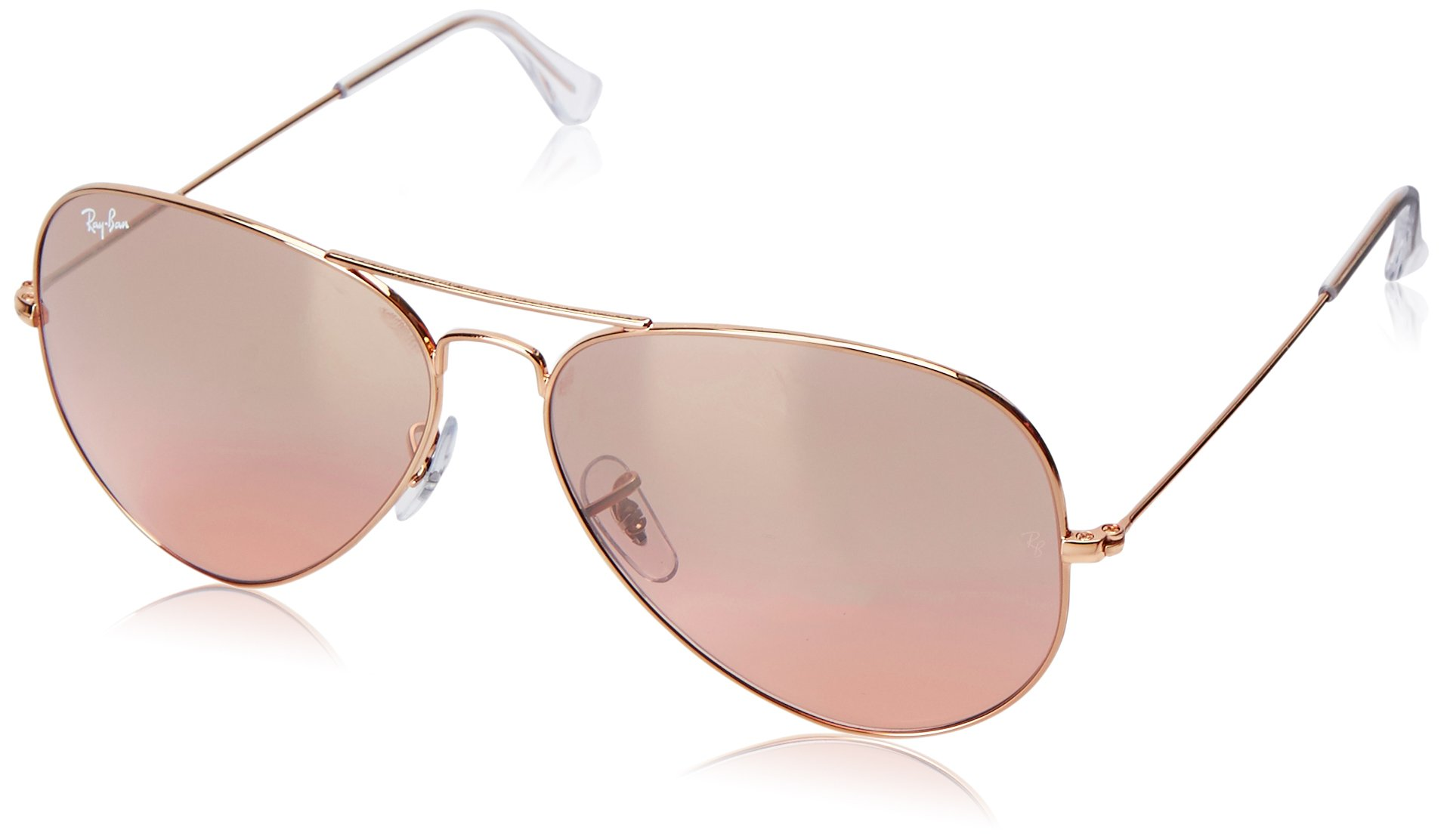 Aldo Goriano Aviator Rose Gold Mirror Lens Sunglasses
