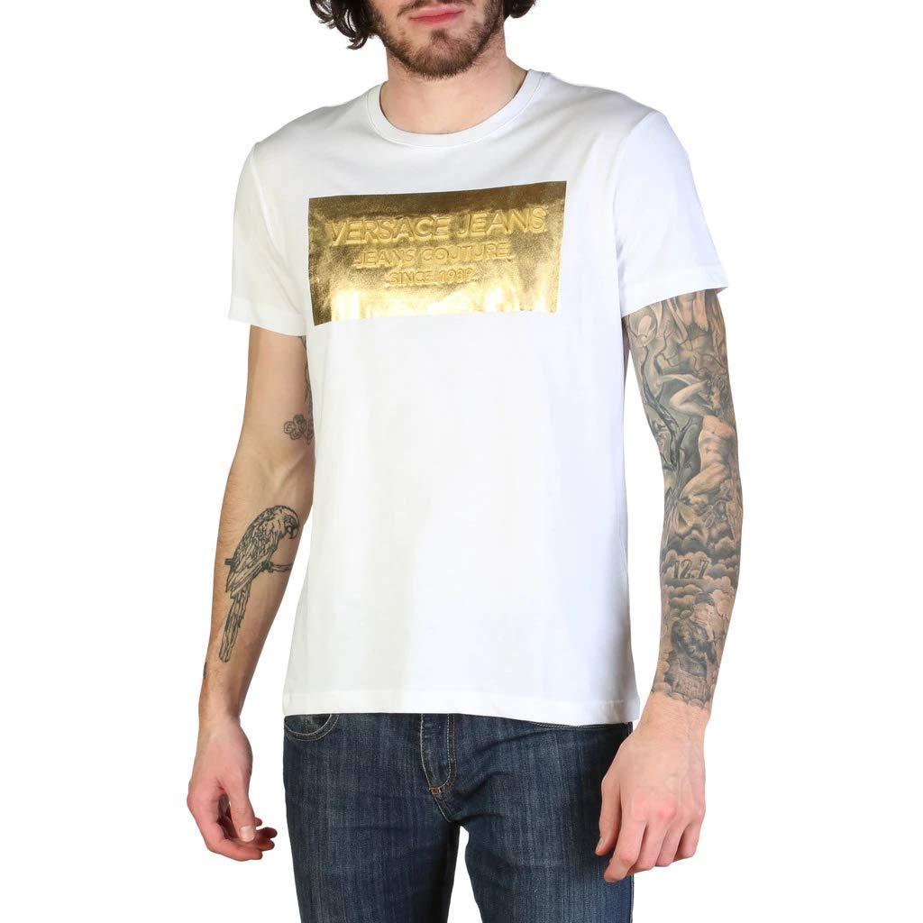 Blanc L Versace Jeans B3GTB74D36590 T-Shirt Homme