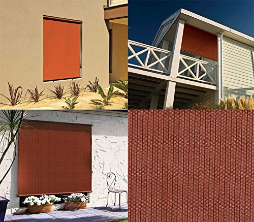 Best Coolaroo Outdoor Cordless Roller Shade 4ft By 6ft Terracotta Reviews From Kempimages