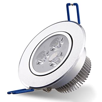 2 focos led empotrables (3 x 3 W 85 – 265 V Foco Acero Inoxidable
