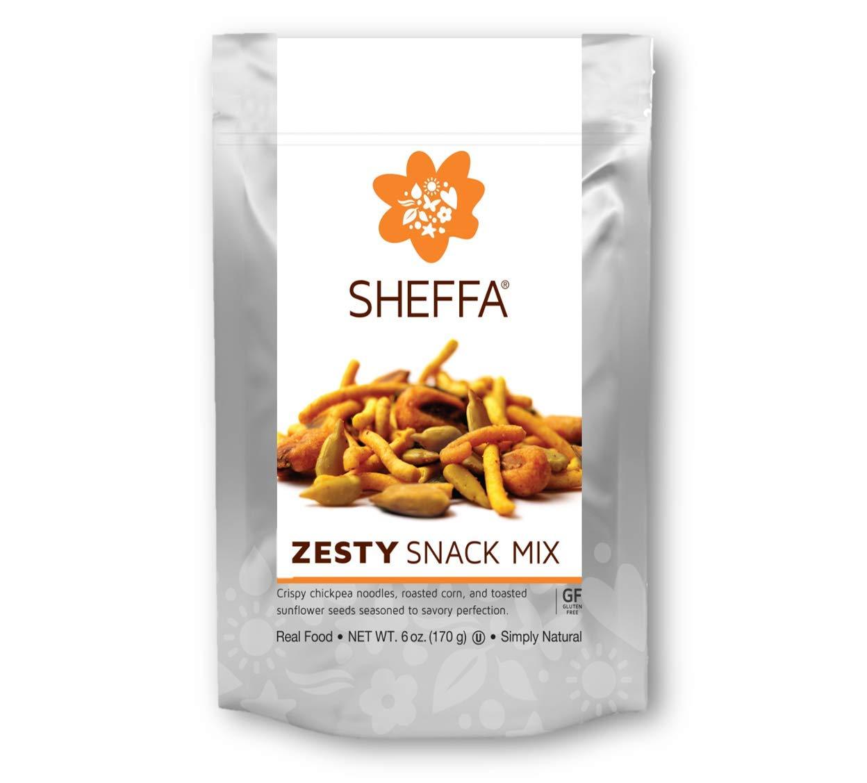 Sheffa Snack Trail Mix, Zesty Healthy & Tasty, 6 Oz (3 Pack) Vegan, Kosher, Gluten Free, Non Gmo, Low Sodium. for Busy Working People