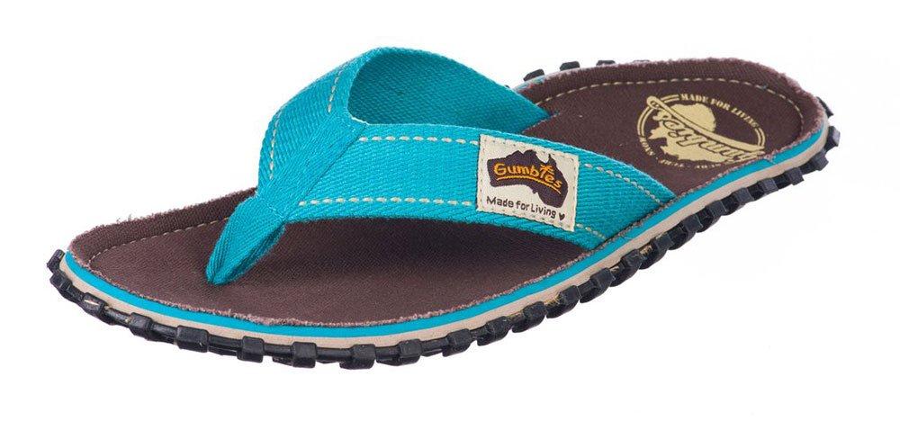 Gumbies Damen Zehentrenner - Rosa/Blau Schuhe in Uuml;bergrouml;szlig;en  44 EU|brown retro