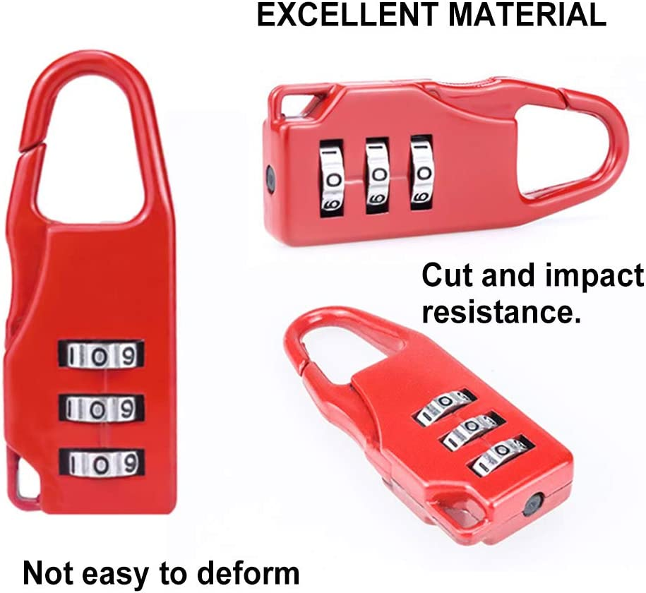Cl/ôture et Entreposage etc,Color/é Cadenas /à Combinaison,10 PCS Serrure /à Combinaison Code 3 Chiffres pour Lockers Gym,/école