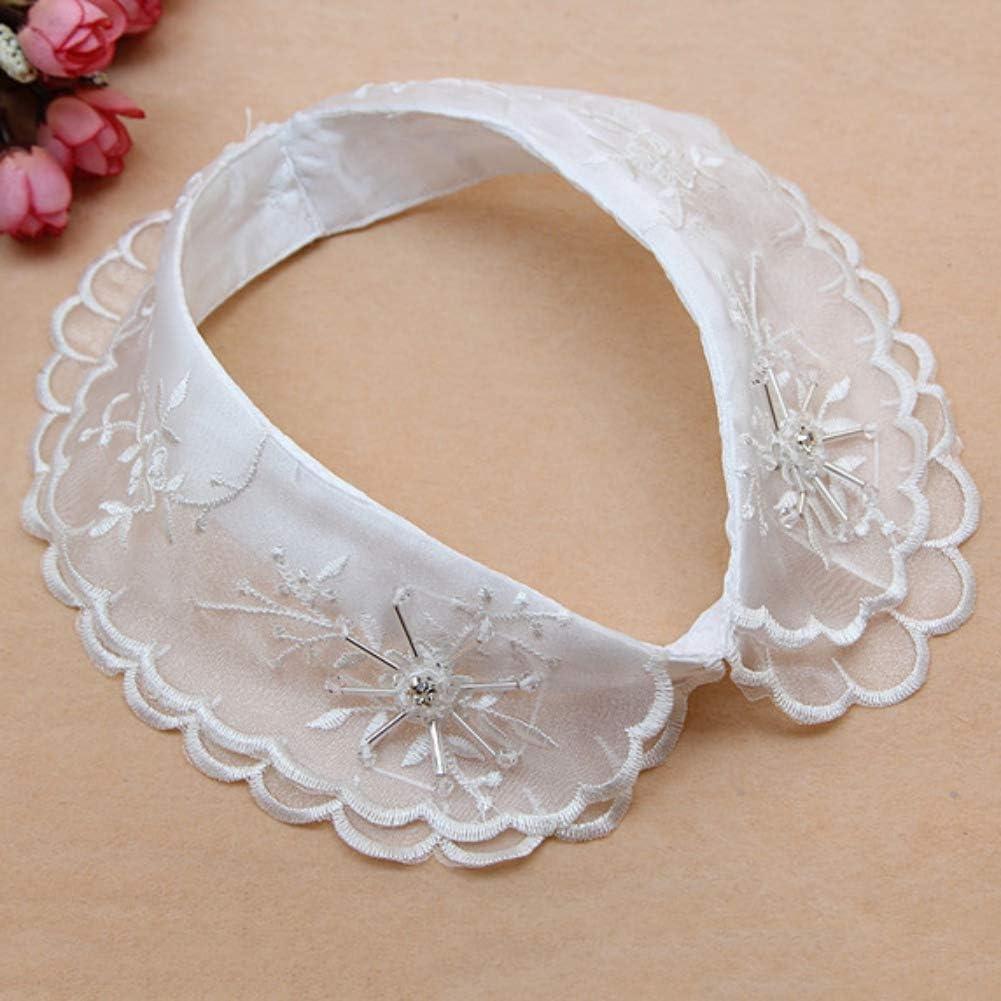 ESHOO Frauen Fake Half Shirt Bluse Abnehmbare Halskette Halskette Dekoration