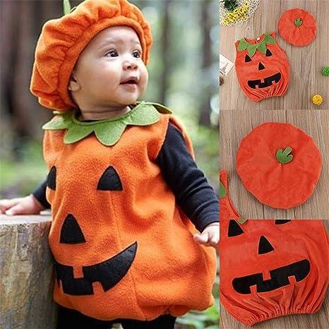 xiaohan - Disfraz de Calabaza de Halloween para niños: Amazon.es ...
