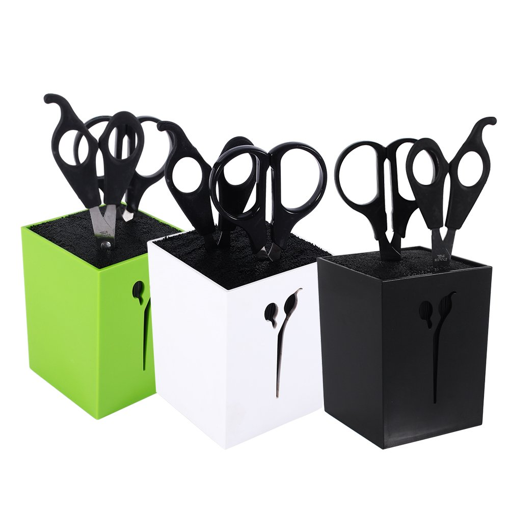Salon Scissors Rack Hairdressing Scissors Holder Case Hair Clips Storage Organizer Box Pot Hair Styling Tool (White) by ZJchao (Image #6)